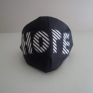 Kin black HOPE stripe face mask