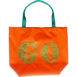 GO Bag, Gold Glitter