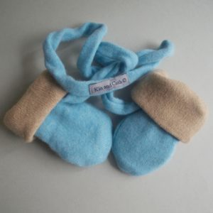 Cashmere King Gloves – Camel/ Blue