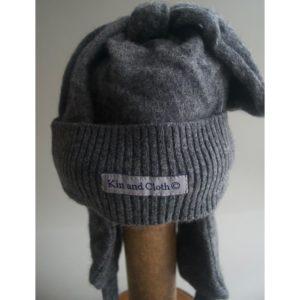Cashmere King Trapper hat – Green Melange – 18 – 24 Months