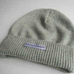 Cashmere King Beanie Hat – Green Melange