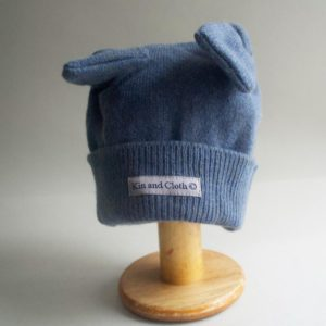 Cashmere King Bunny Hat- Moss blue