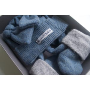 Cashmere King Gloves – Moss Blue/Grey