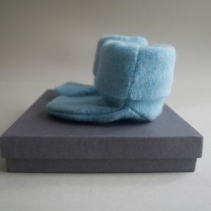 Cashmere King Socks/Bootie – Blue