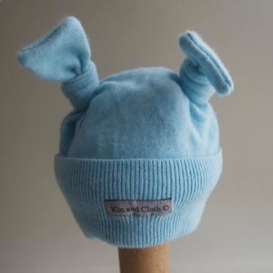 Cashmere King Bunny Hat – Blue