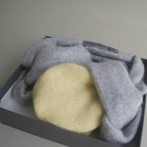 Cashmere King Gloves – Yellow/Grey