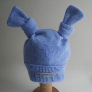 Cashmere King Bunny Hat -Deep sky blue
