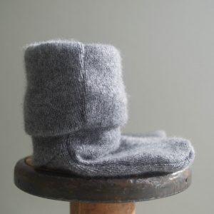 Cashmere King Socks/Bootie – Smoky grey